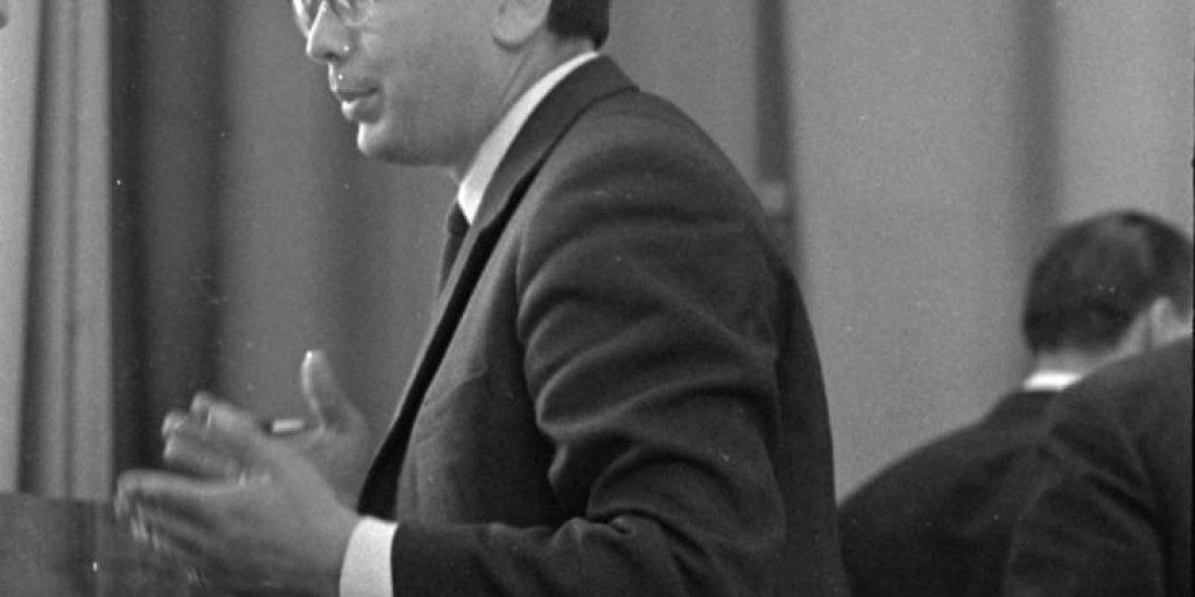 Выступление лётчика-космонавта СССР Б.Б. Егорова на 3-й Всесоюзной конференции по авиакосмической медицине.