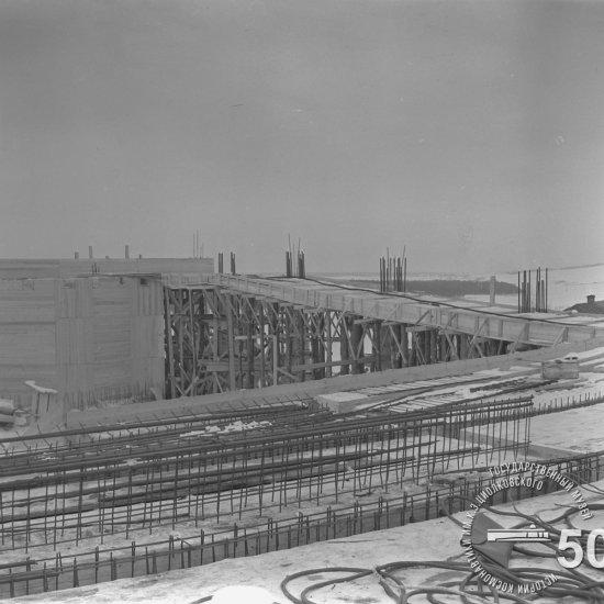 Строительная площадка Государственного музея К.Э. Циолковского. Вид сверху с восточной стороны