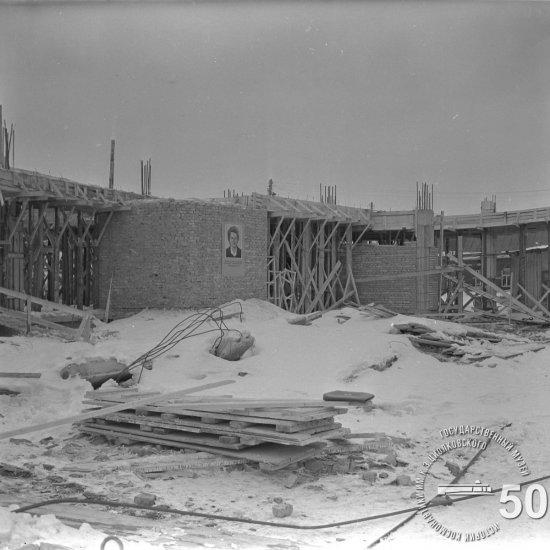 Строительная площадка Государственного музея К.Э. Циолковского. Вид с восточной стороны