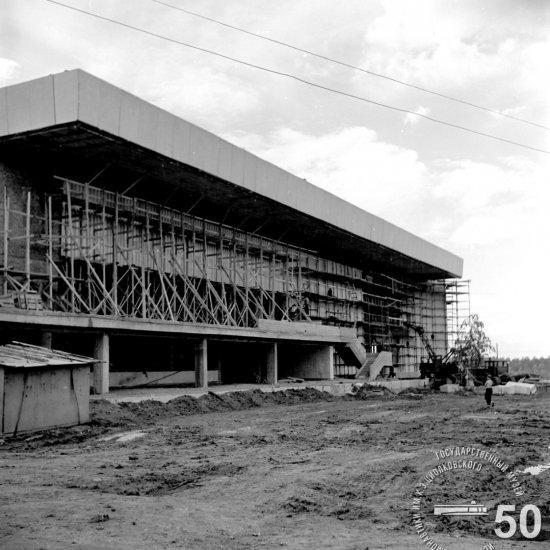 Строительная площадка Государственного музея К.Э. Циолковского. Вид с северной стороны