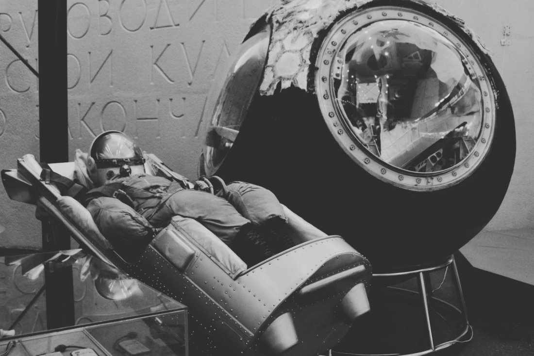 Спускаемый аппарат космического корабля «Восток-5», на котором 14-19 июня 1963 г. совершил полет летчик-космонавт В.Ф. Быковский.