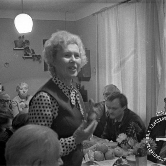 Традиционная встреча «Они знали К.Э. Циолковского» в Мемориальном доме-музее ученого. Выступает М.В. Самбурова, внучка К.Э. Циолковского.