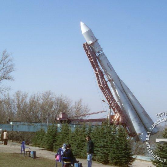 Подъем ракеты-носителя «Восток».