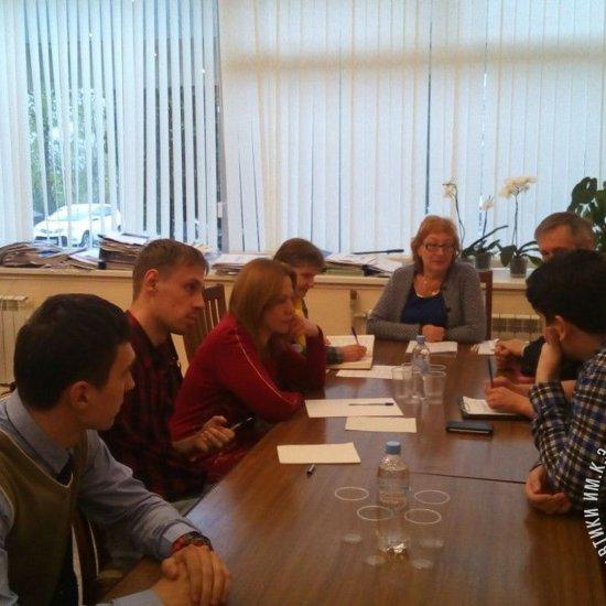 Первое организационное заседание Молодёжного инновационного космического центра при ГМИК им. К.Э. Циолковского.