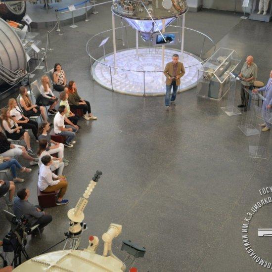 Съемки первой программы из цикла «Главное. Люди и космос» — «Космос наш».