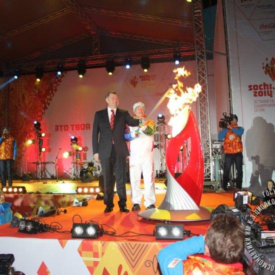 Эстафета Олимпийского огня.