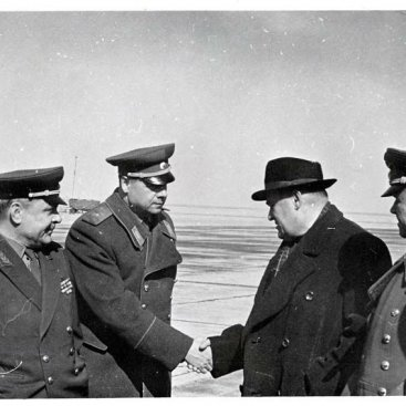 Встреча главного конструктора С.П. Королева на аэродроме «Крайний»