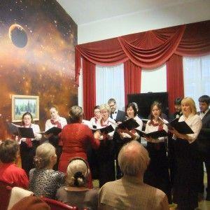 Хоровая капелла исполнила для гостей народную швейцарскую песню