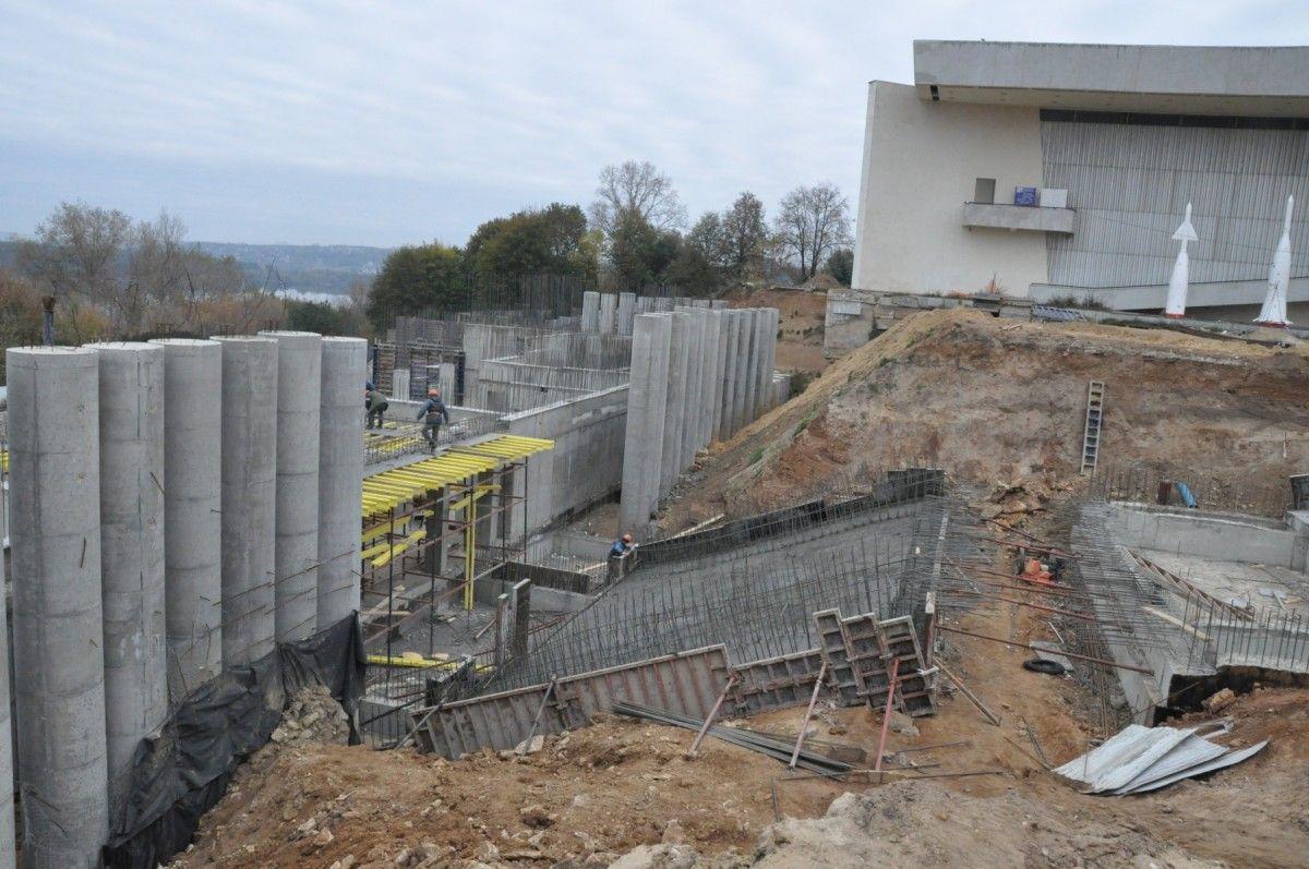 Каркас нового здания музея