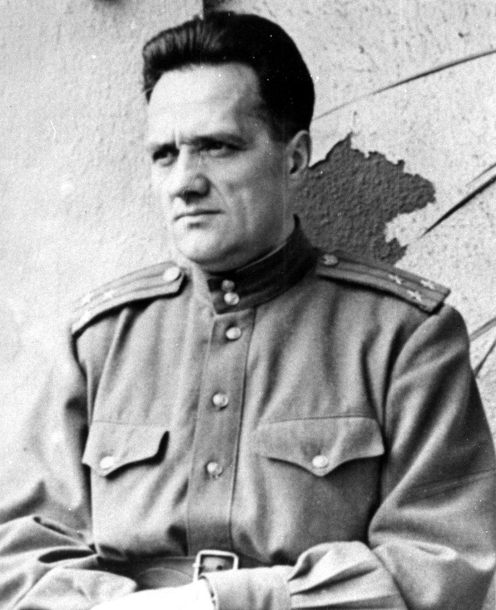 Н.А. Пилюгин – первый заместитель начальника института «Рабе» - главный инженер. Германия, г. Бляйхероде.  1945 г.