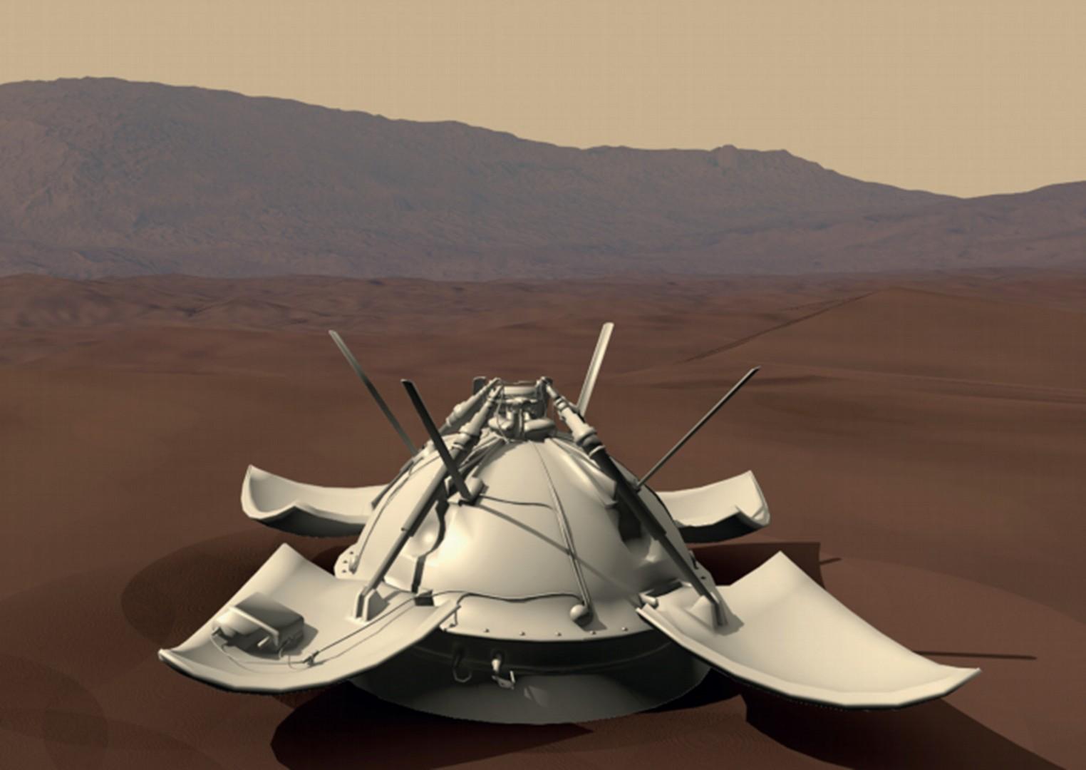Спускаемый аппарат АМС «Луна-9», благодаря которому  были сделаны первые панорамные снимки на поверхности Луны.