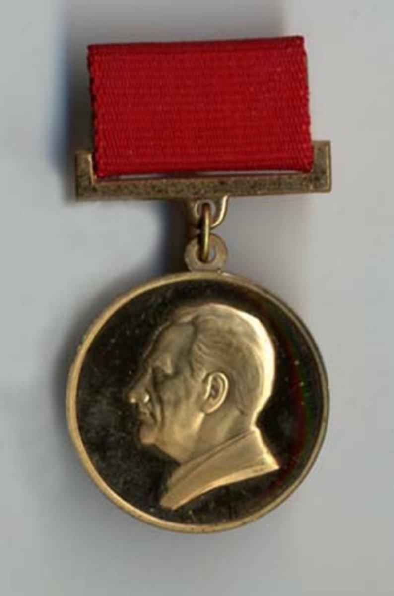 Медаль им. Академика Н.А. Пилюгина. Награда Федерации космонавтики СССР. Москва. 1988 г.