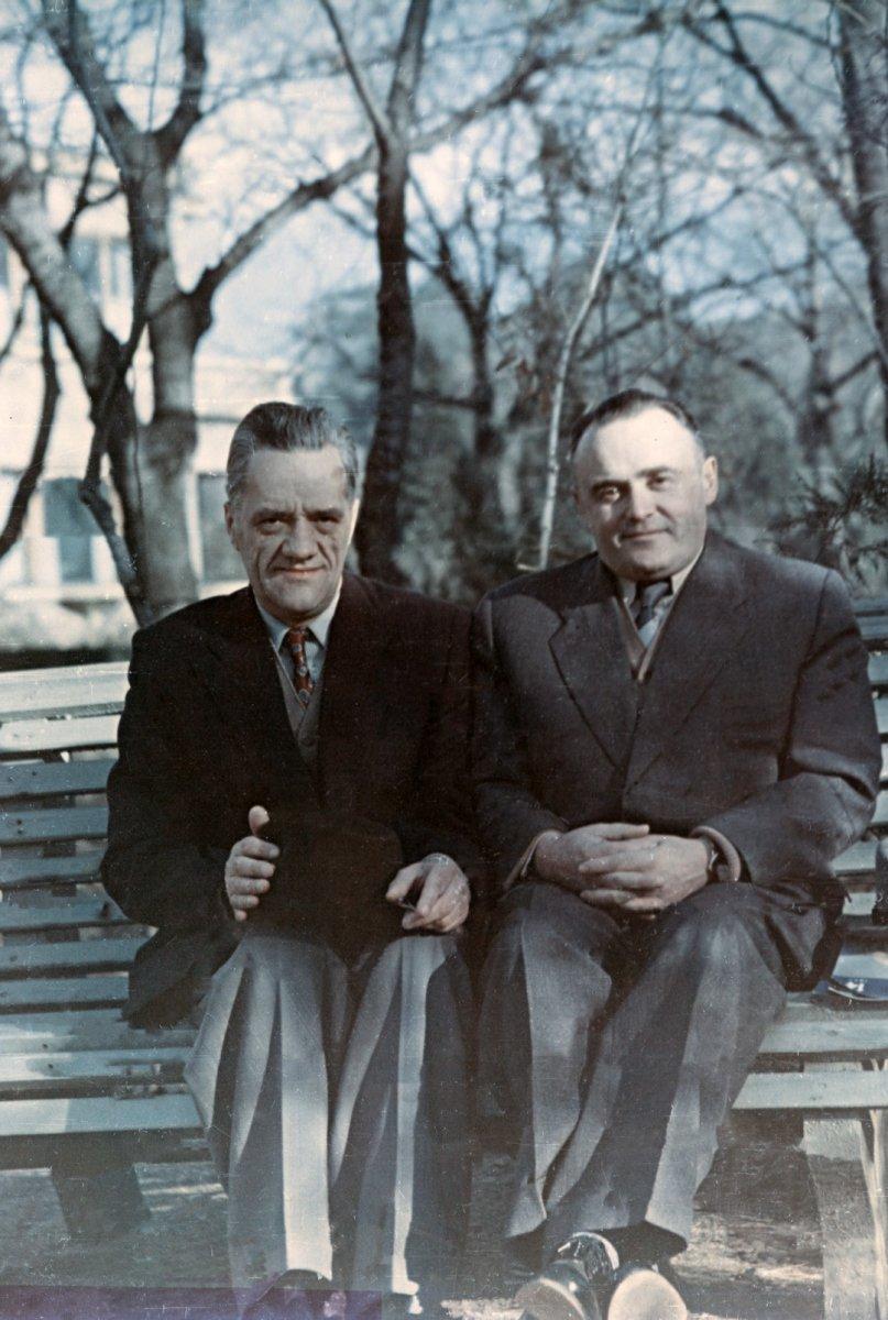 Н.А. Пилюгин и С.П. Королев в санатории «Красные камни». Кисловодск. 1957 г.