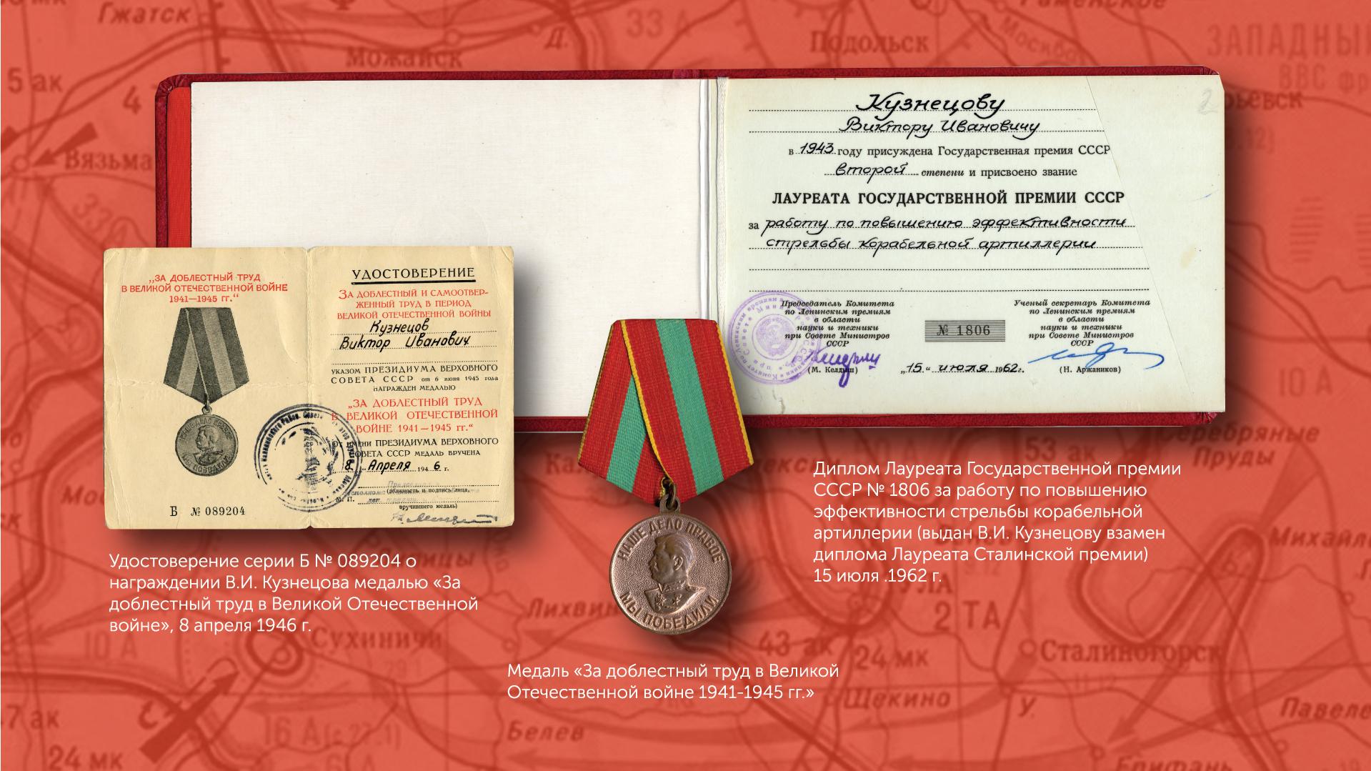Медаль В.И. Кузнецова