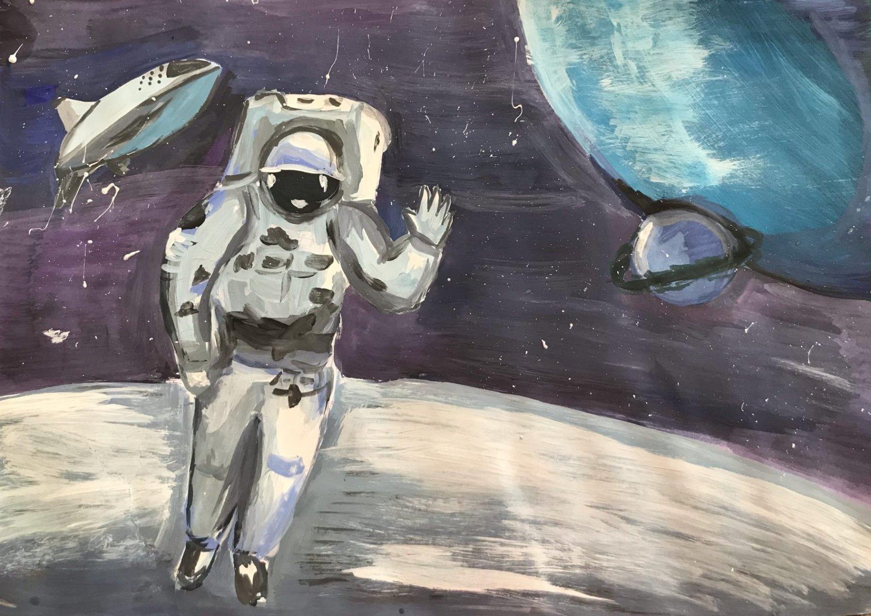 Евтодьева Дарья, 13 лет. Привет из Космоса