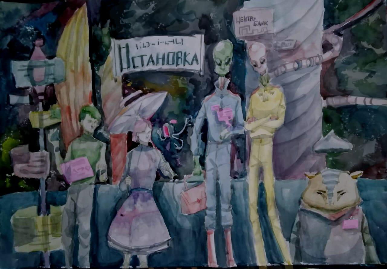 Годовикова Варвара, 15 лет. Город будущего