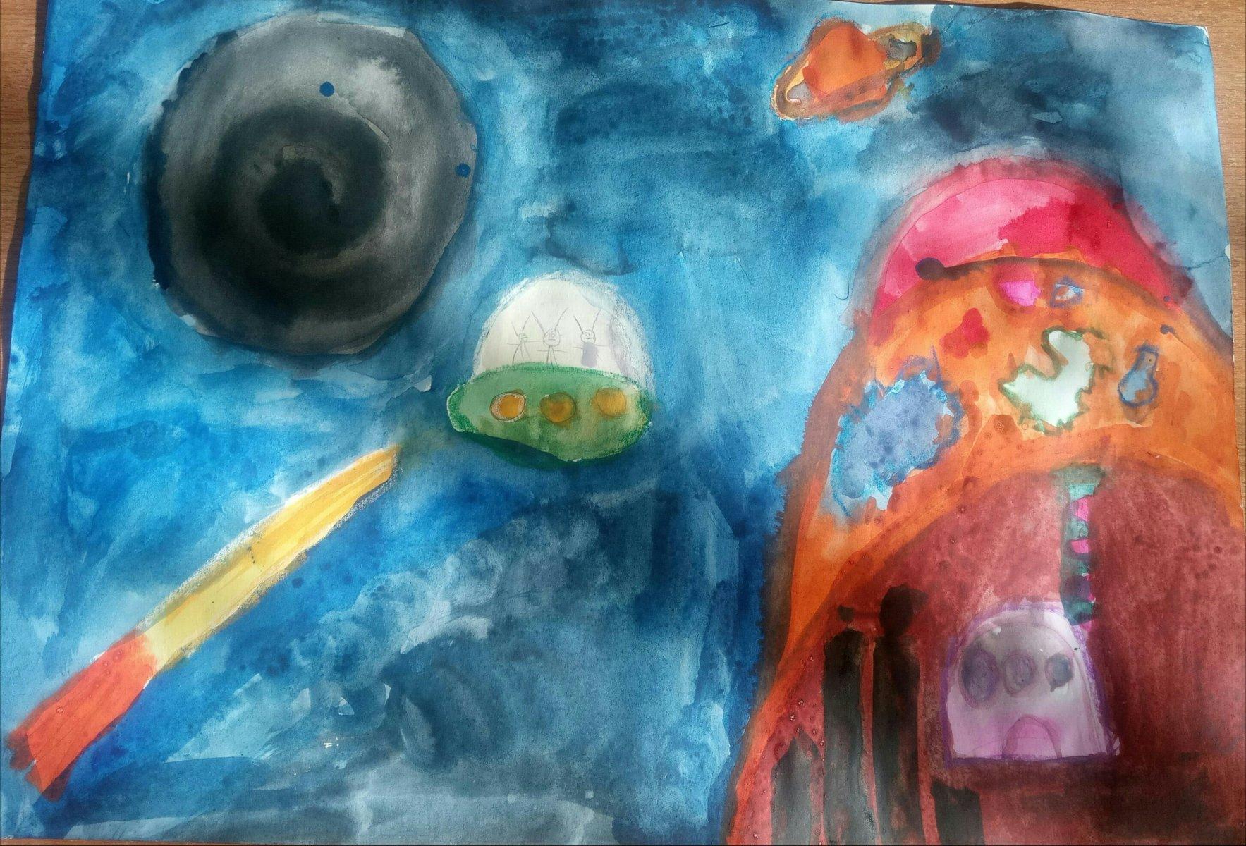 Сюкрева Мария, 6 лет. В гости к бабушке на Сатурн