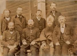 К.Э.Циолковский среди педагогов уездного училища (второй слева в верхнем ряду)